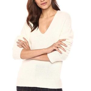 Theory Cashmere Relaxed Vneck Pullover Sweater
